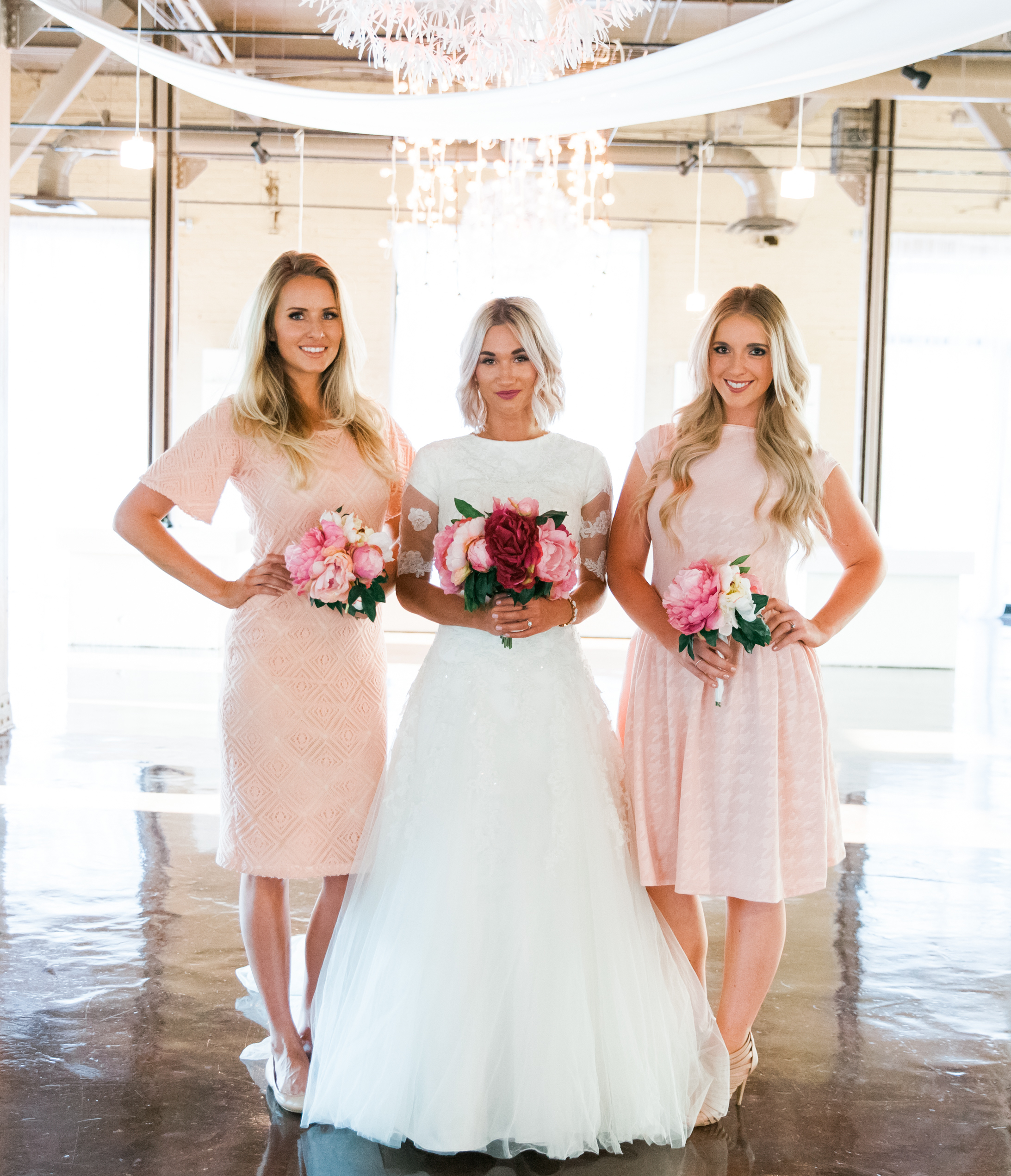 Rethinking bridesmaid dresses madamandrews for our next section we dared to do the unthinkable we styled white bridesmaid dresses with polka dotswhat arent you not supposed to wear white to a ombrellifo Images